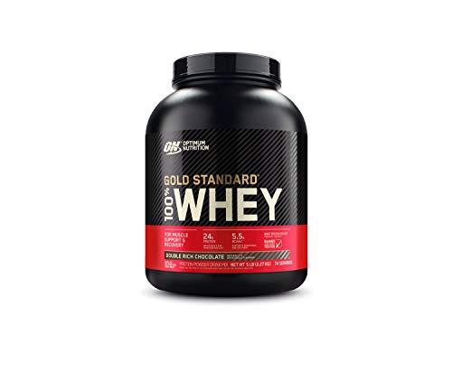 Optimum Nutrition Gold Standard 100% Whey Protein Powder, Double...