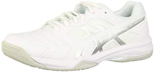 ASICS Men's Gel-Dedicate 6 Tennis Shoes, 10M, White/Silver