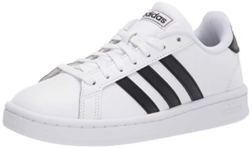 adidas mens Grand Court Sneaker, White/Black/White, 8.5 US