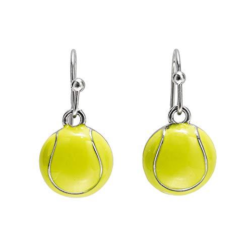 GIMMEDAT Tennis Ball Enamel Dangle Earrings Player Jewelry Woman...