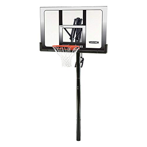 Lifetime 71281 In Ground Power Lift Basketball System, 52 Inch...