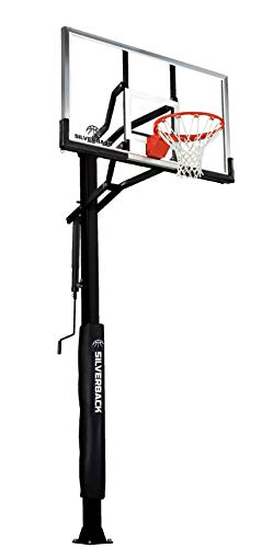 Silverback In-Ground Basketball Hoops, Adjustable Height Tempered...