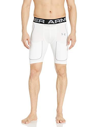 Under Armour Men's 6-Pad Football Girdle, White (100)/Steel,...