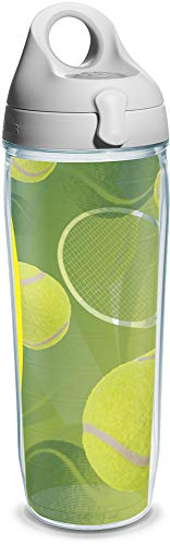 Tervis Tennis Balls Wrap and Water Bottle with Grey Lid,...