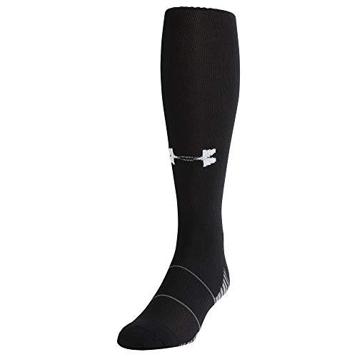 Under Armour Adult Team Over-The-Calf Socks, 1-Pair , Black/White...