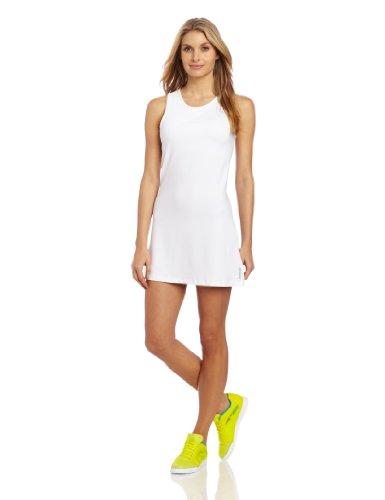 Reebok Women's Outlaced Tennis Dress, White/Tin Grey, Medium