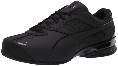 PUMA Men's Tazon 6 Fracture Sneaker, Black, 10 M US