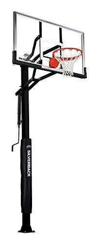 Silverback 60' In-Ground Basketball Hoop, Adjustable Height...
