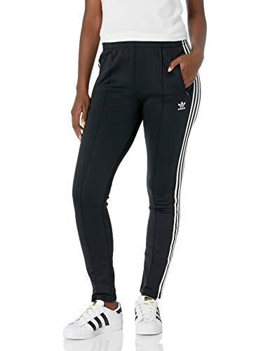 adidas womens Sst Track Primeblue Pants, Black White, 2X US