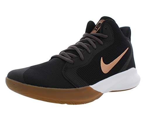 Nike Unisex-Adult Precision III Basketball Shoe, Black/Metallic...