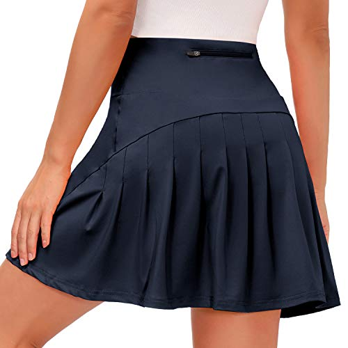 Yidarton Tennis Pleated Skirt for Women with Pockets Quick Dry...