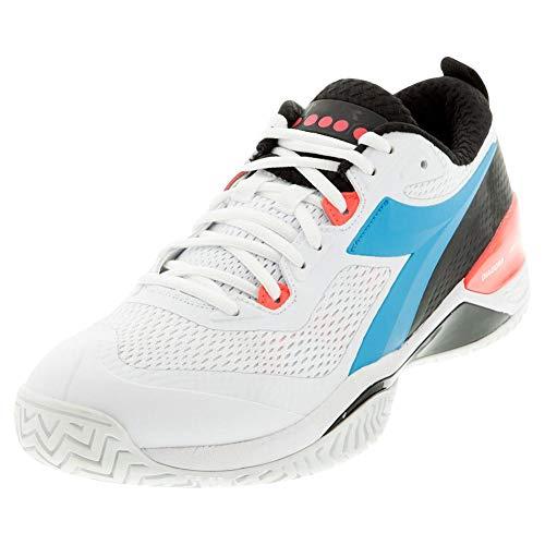 Diadora Speed Blushield 4 AG Mens Tennis Shoe - White/Blue - Size...
