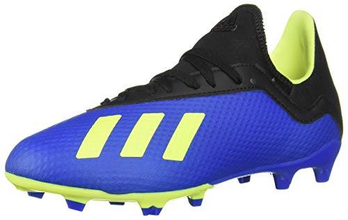 adidas Unisex-Kid's X 18.3 FG Soccer Shoe, Football Blue/Solar...