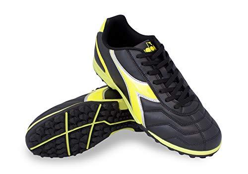 Diadora Men's Capitano TF Turf Soccer Shoes (9.5, Black/Yellow)