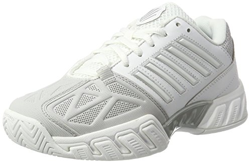 K-Swiss Women's Bigshot Light 3 Tennis Shoe (White/Silver, 8)