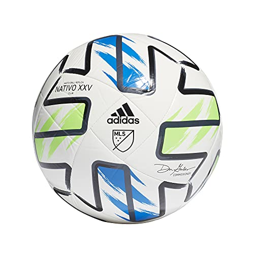adidas Unisex-Adult MLS Nativo XXV Club Ball, Samba Blue/Solar...