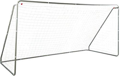 Amazon Basics Soccer Goal Frame With Net - 12 x 6 x 5 Foot, Steel...
