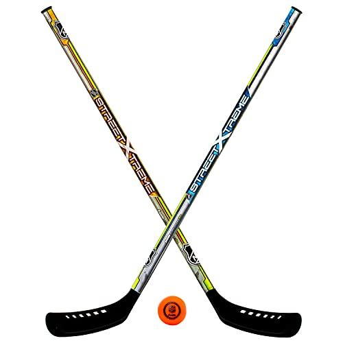 Franklin Sports Youth Street Hockey Set - Includes 2 Street...