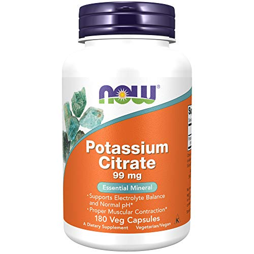NOW Supplements, Potassium Citrate 99 mg, Supports Electrolyte...