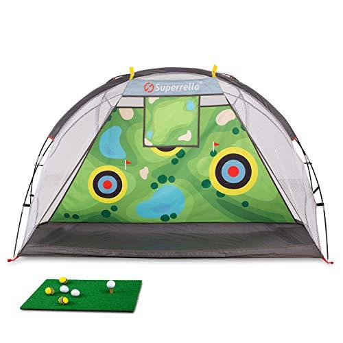 Superrella Golf Hitting Net Training Aids for Backyard Indoor...