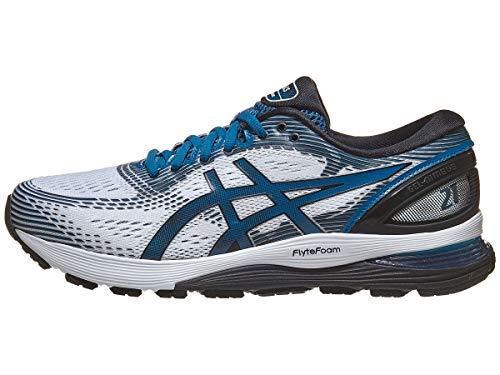 ASICS Men's Gel-Nimbus 21 Running Shoes, 8.5M, White/DEEP...