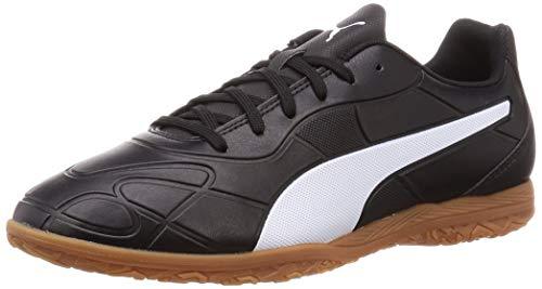 PUMA Men's Monarch IT Futsal Shoes, Black White, 9
