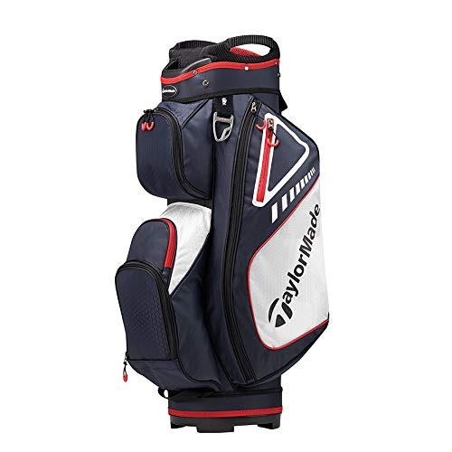 TaylorMade 2019 Golf Select Cart Bag, Navy/Red/White