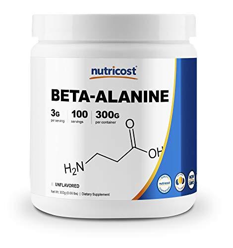 Nutricost Beta Alanine Powder 300 Grams (10.6oz) - 3 Grams Per...