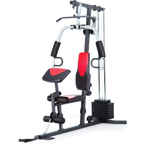 Home Gym Weider 214 lb Stack, 300 lbs, exercise chart, ankle...