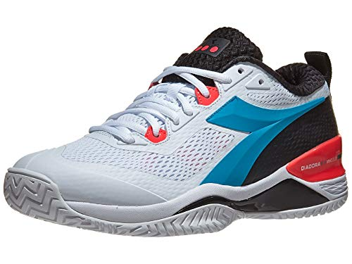 Diadora Speed Blushield 4 AG Mens Tennis Shoe - White/Blue - Size...