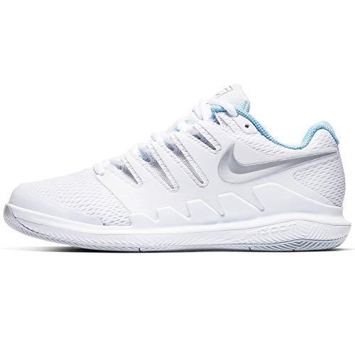 Nike Women's Air Zoom Vapor X Tennis Shoe White/Metallic...