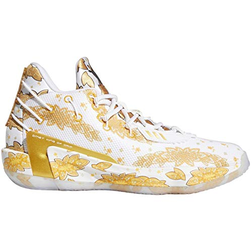 adidas Basketball Men Dame 7 RIC Flair Damian Lillard White Gold...