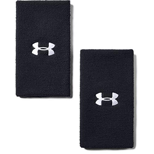 Under Armour Adult 6-inch Performance Wristband 2-Pack , Black...