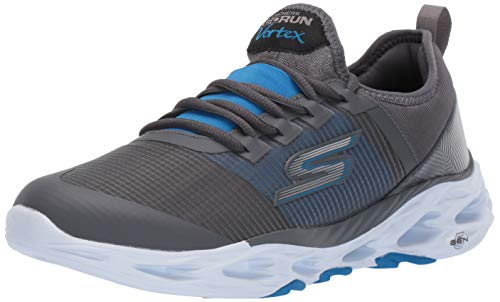 Skechers Men's GO Run VORTEX-54841 Sneaker, Charcoal/Blue, 13 M...
