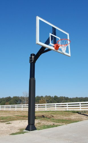 Hercules Platinum - Fixed Height In-ground Basketball Hoop with...