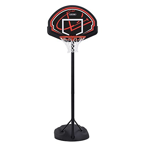Lifetime 90022 32' Youth Portable Basketball Hoop, Red/Black