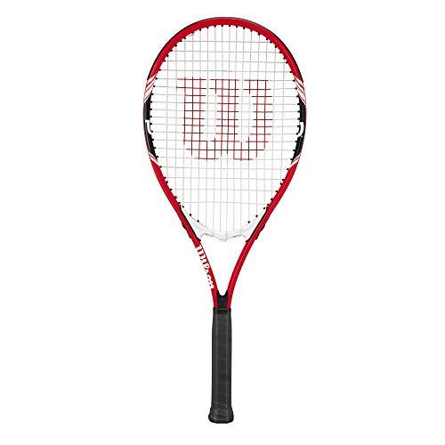 wilson Federer Tennis Racquet (EA) Red/White/Black, 4 3/8\'