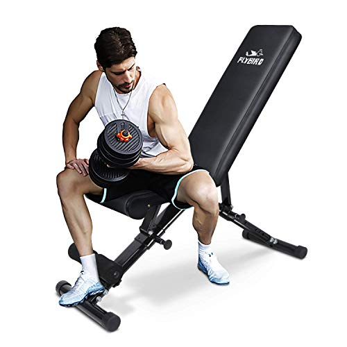 FLYBIRD Weight Bench, Adjustable Strength Training Bench for Full...