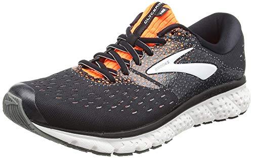 Brooks Mens Glycerin 16 Running Shoe - Black/Orange/Grey - D -...