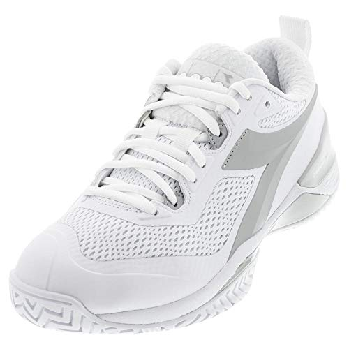 Diadora Women`s Speed Blueshield 4 AG Tennis Shoes White and...