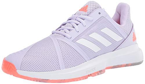 adidas Women's Courtjam Bounce W Sneaker, Signal Coral/Purple...