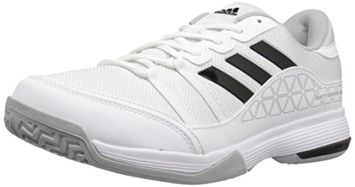 adidas Kids' Barricade Court Wide Tennis Shoes, White/Black/Light...