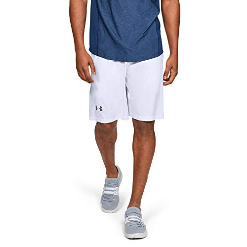 Under Armour Men's Raid 10-inch Workout Gym Shorts , White...
