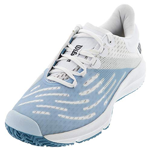 Wilson womens Kaos 3.0 Women Tennis Shoe, White/White/Niagara, 11...