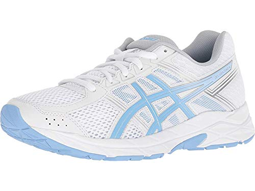 ASICS Women's Gel-Contend 4 Running Shoes, 8M, White/Blue Bell