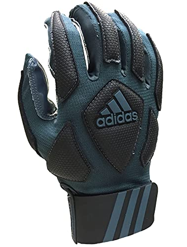 adidas Scorch Destroyer Full Finger Lineman's Gloves, Gray/Black,...