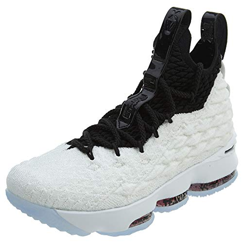 Nike Lebron Xv Gs Boys Shoes Size 5, Color: White/Black/Black