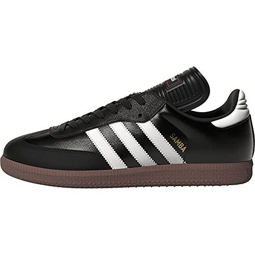 adidas Men's Samba Classic Soccer Shoe,Black/Running White,10.5 M...