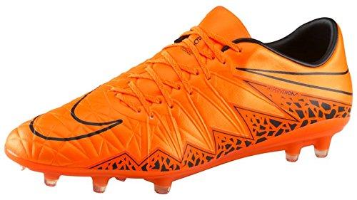 Nike Men's Hypervenom Phinish II FG Total Orange/Black Shoes - 8