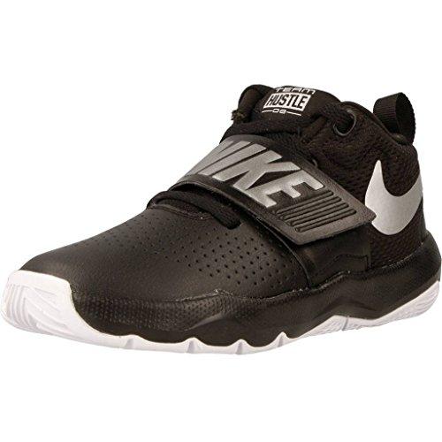 Nike Boy's Team Hustle D 8 (PS) Basketball Shoe, Black/Metallic...